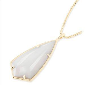 Carole Long Pendant Necklace In Slate